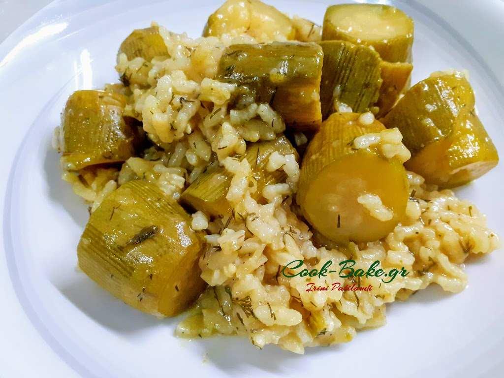 Κολοκυθάκια με ρύζι, όχι γεμιστά