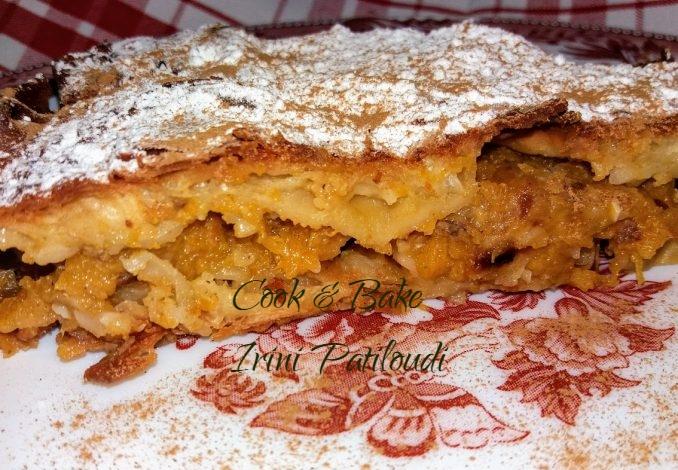 Γλυκιά πίτα κολοκύθας με αμύγδαλα και έτοιμο φύλλο