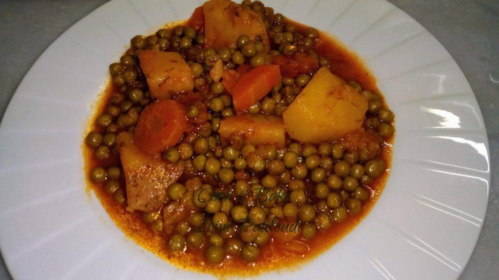 Αρακάς με καρότα και πατάτες, ένα λαδερό φαγητό