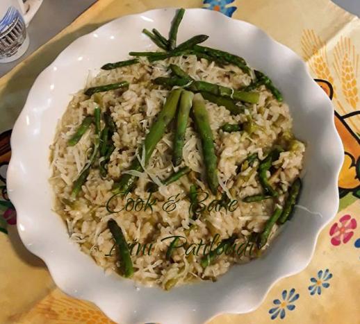 Ριζότο ιταλικό με σπαράγγια φρέσκα της Ariadni Perrou