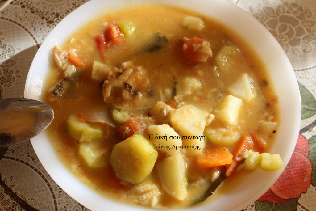 Ψαρόσουπα με φουλ λαχανικά